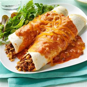 Cheddar Beef Enchiladas Recipe
