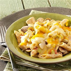 Cheddar Chicken Mostaccioli Recipe