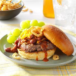 Cheddar Chili Burgers Recipe