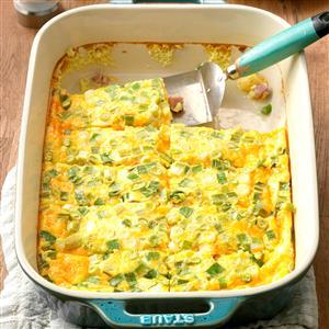 Cheddar-Ham Oven Omelet Recipe