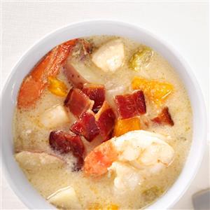 Cheddar Seafood Chowder Recipe