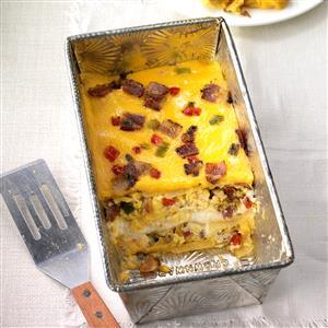 Cheesy Bacon Breakfast Lasagna Recipe