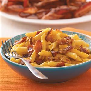 Cheesy Bacon Penne Recipe