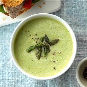 Cheesy Cream of Asparagus Soup Recipe