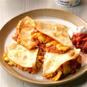 Cheesy Egg Quesadillas Recipe