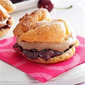 Cherry-Chocolate Cream Puffs Recipe