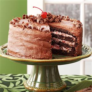 Cherry Chocolate Layer Cake Recipe