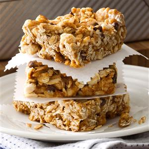 Chewy Honey Granola Bars Recipe