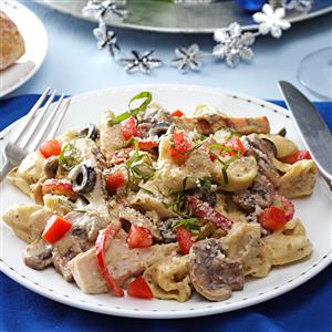 Chicken & Cheese Tortellini Alfredo Recipe