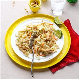 Chicken & Rice Salad with Peanut Sauce Recipe