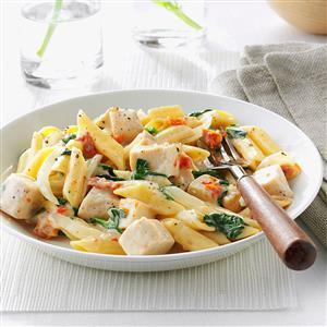 Chicken & Spinach Mostaccioli Recipe