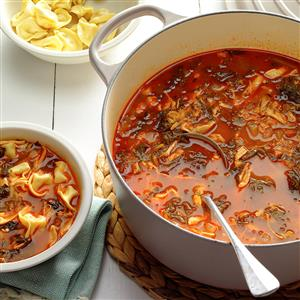 Chicken, Broccoli Rabe Soup with Tortellini Recipe