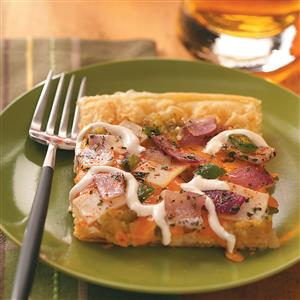 Chicken Enchilada Verde Pizza Recipe