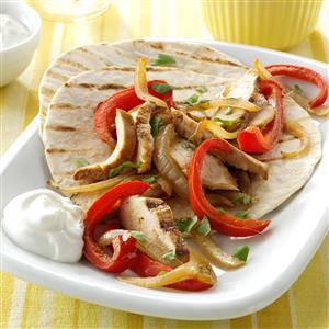 Chicken Fajitas for Two Recipe