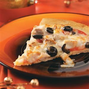 Chicken Focaccia Pizzas Recipe