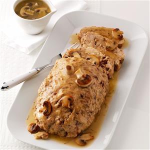 Chicken Loaf with Mushroom Gravy Recipe