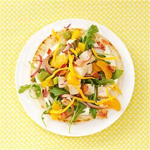 Chicken Salad Pizzas Recipe
