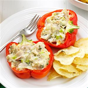Chicken Salad-Stuffed Peppers Recipe