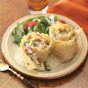 Chicken and Broccoli Lasagna Rolls Recipe