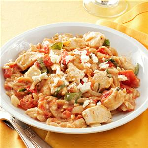 Chicken in Tomato-Basil Cream Sauce Recipe