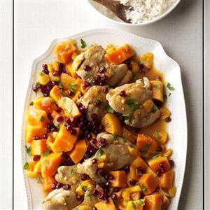 Chicken with Sugar Pumpkins & Apricots Recipe