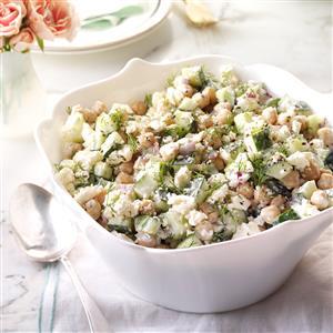 Chickpea Cucumber Salad Recipe