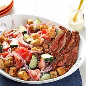 Chili-Rubbed Steak & Bread Salad Recipe