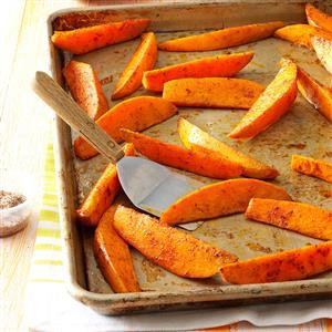 Chili-Spiced Sweet Potato Wedges Recipe