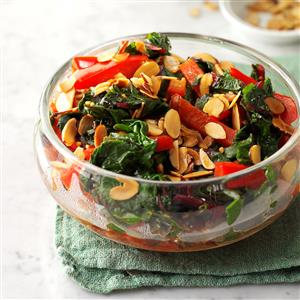 Chinese Chard with Almonds Recipe