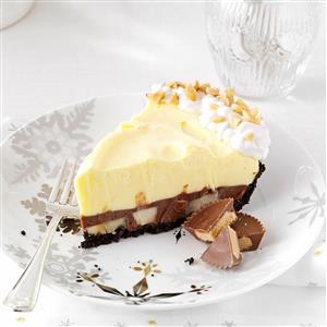 Chocolate & Peanut Butter Pudding Pie with Bananas
