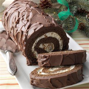 Yule Log Ice Cream Cake Recipe