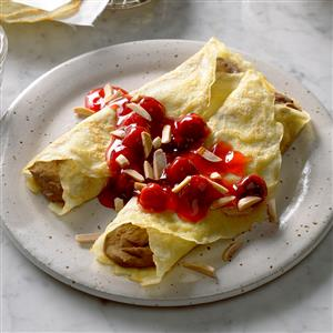 Chocolate Cherry Crepes Recipe