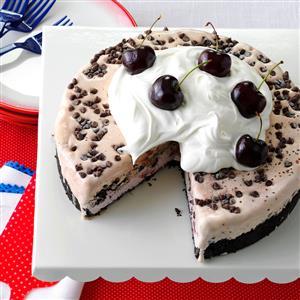 Chocolate-Cherry Ice Cream Cake Recipe