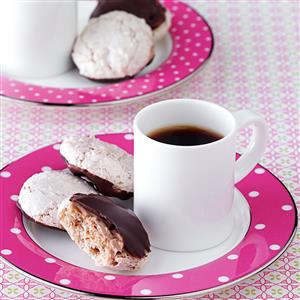 Chocolate-Dipped Almond Macaroons Recipe