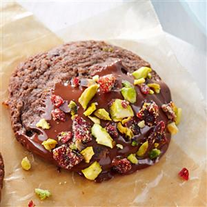 Chocolate-Dipped Spumoni Cookies Recipe