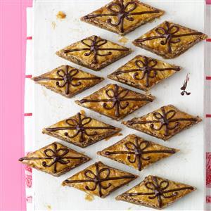 Chocolate-Drizzled Baklava Recipe
