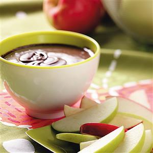 Chocolate Mint Apple Fondue Recipe