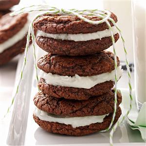 Chocolate-Mint Creme Cookies Recipe