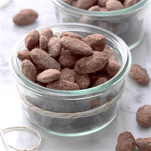 Chocolate Mocha Dusted Almonds Recipe