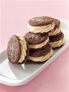 Chocolate Peanut Butter Sandwich Cookies Recipe