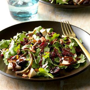 Chocolate Pear and Cherry Salad Recipe