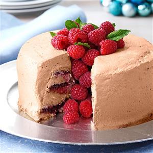 Chocolate-Raspberry Angel Food Torte Recipe