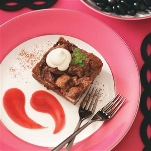 Chocolate-Raspberry Bread Pudding Recipe