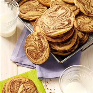 Chocolate-Swirled Peanut Butter Cookies