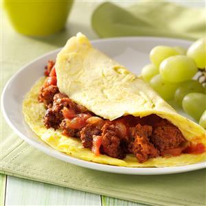 Chorizo Salsa Omelet Recipe