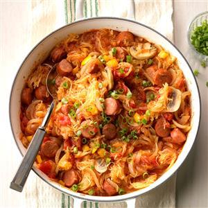 Chorizo Spaghetti Squash Skillet Recipe
