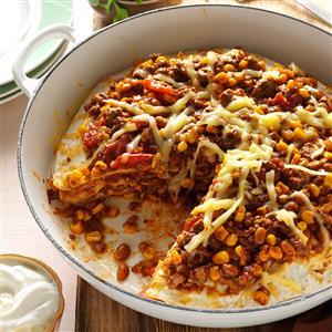Chuck Wagon Tortilla Stack Recipe