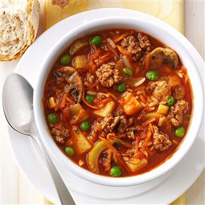 Chunky Beef Vegetable Soup Recipe