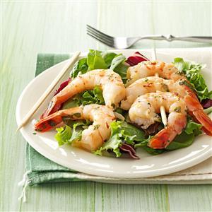 Cilantro-Basil Grilled Shrimp Recipe