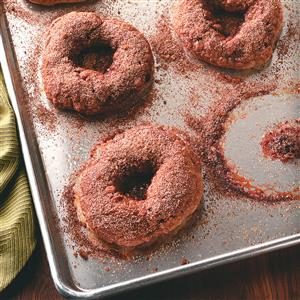Cinnamon Bagels with Crunchy Topping Recipe